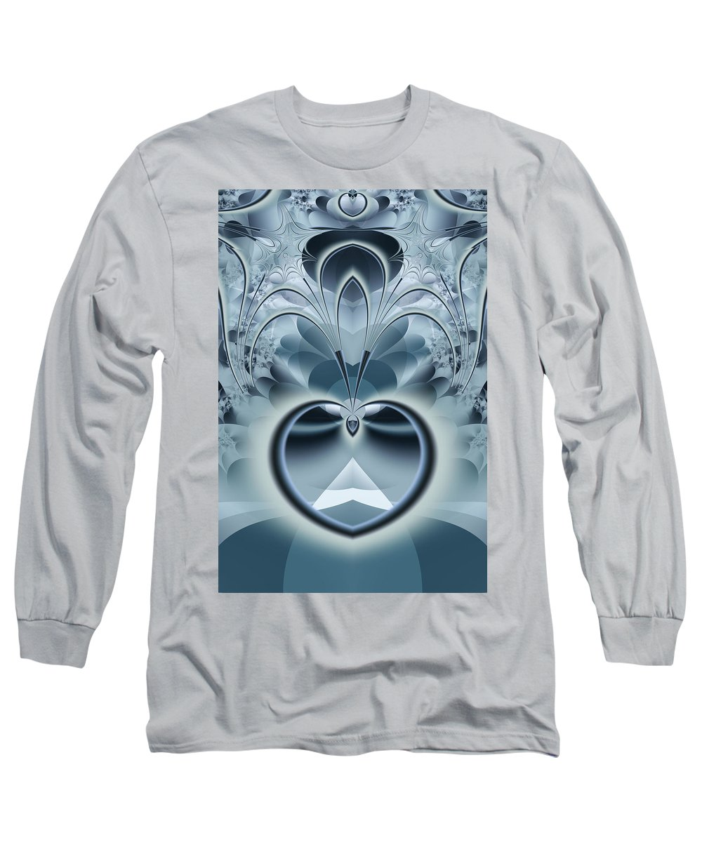 Fractal Long Sleeve T-Shirt featuring the digital art Vision by Frederic Durville