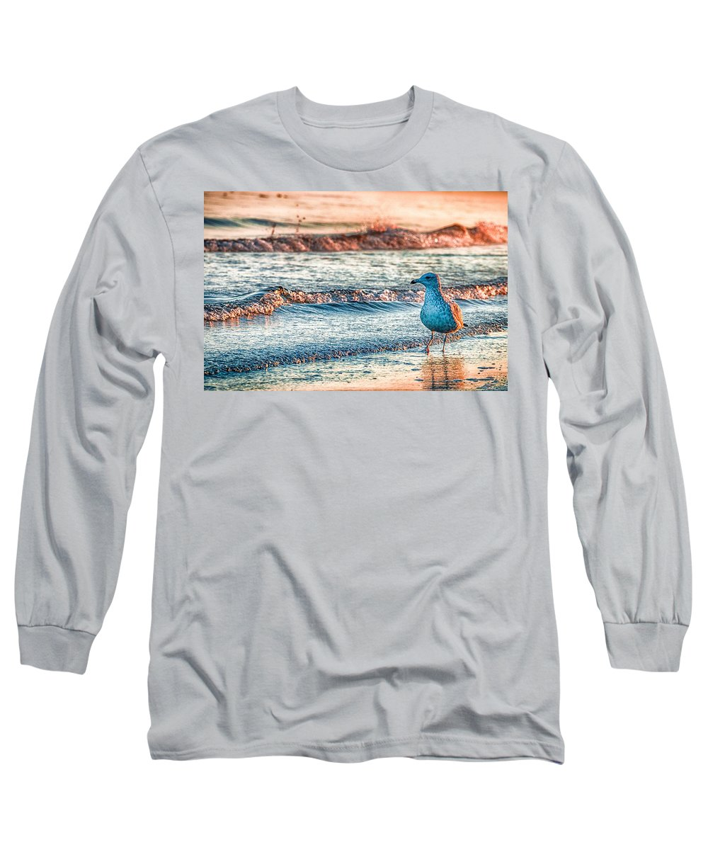 Ocean Long Sleeve T-Shirt featuring the photograph Walking On Sunshine by Mathias Janke