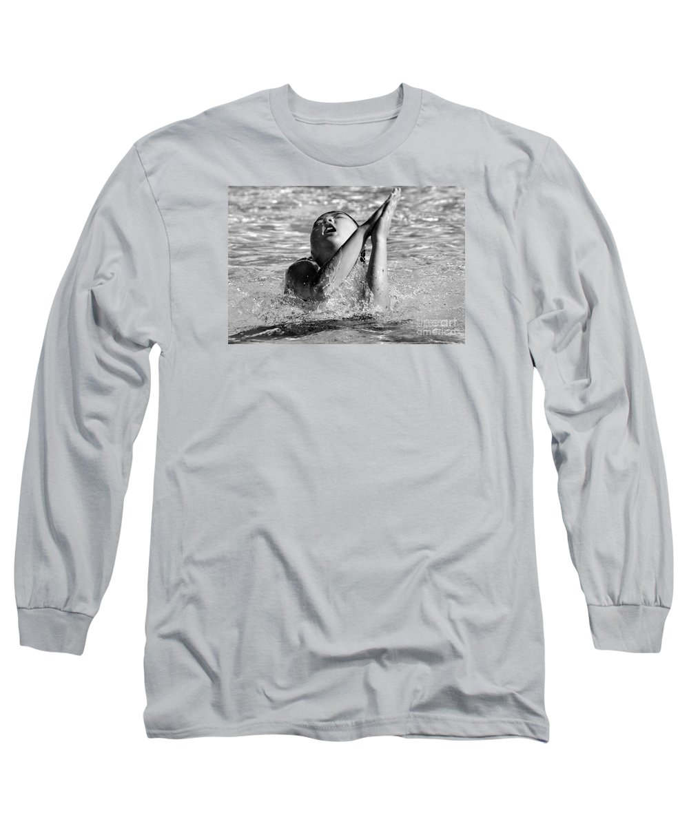 People Long Sleeve T-Shirt featuring the photograph Water Prayer 2009 by Michael Ziegler