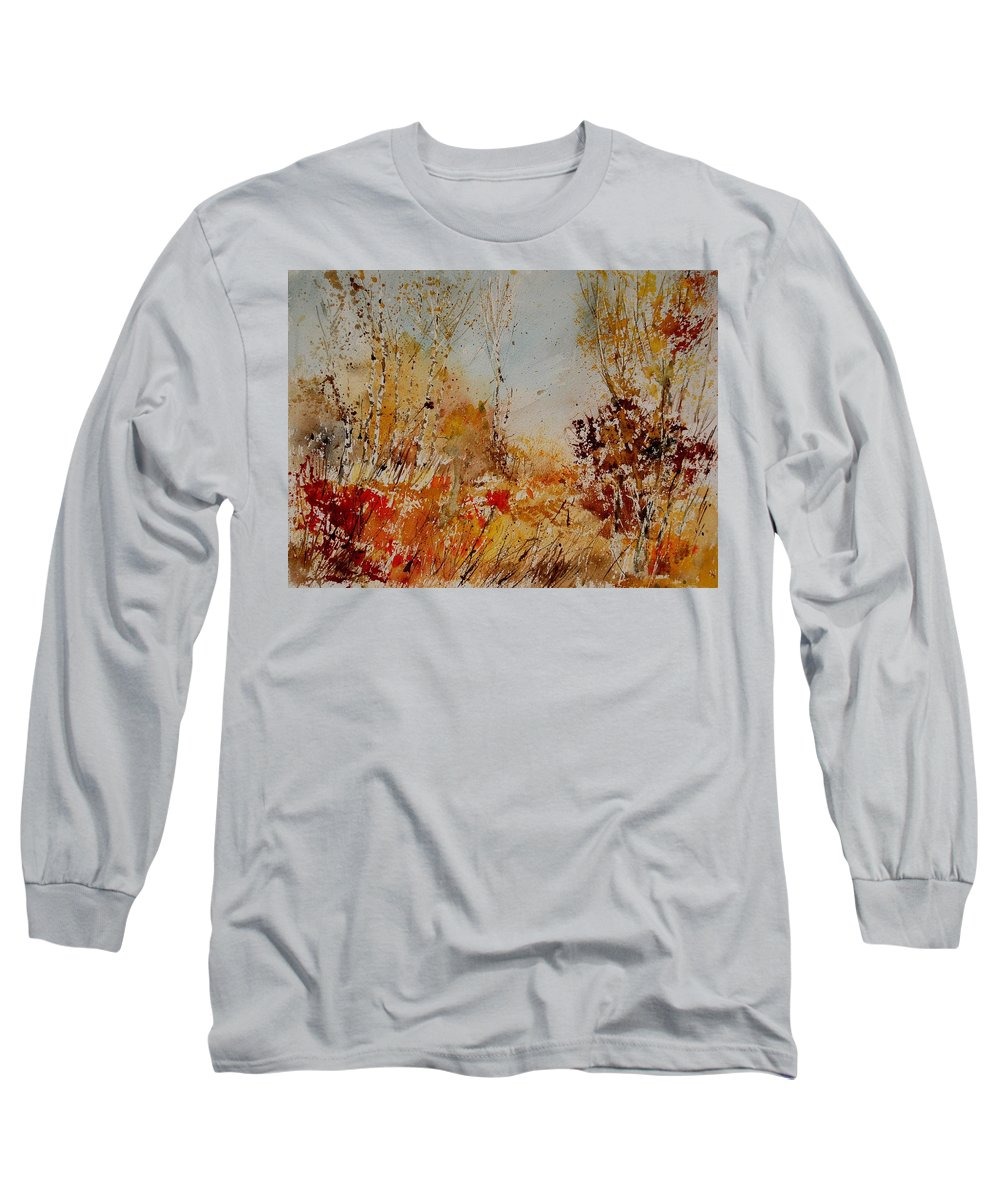 Tree Long Sleeve T-Shirt featuring the painting Watercolor 908031 by Pol Ledent