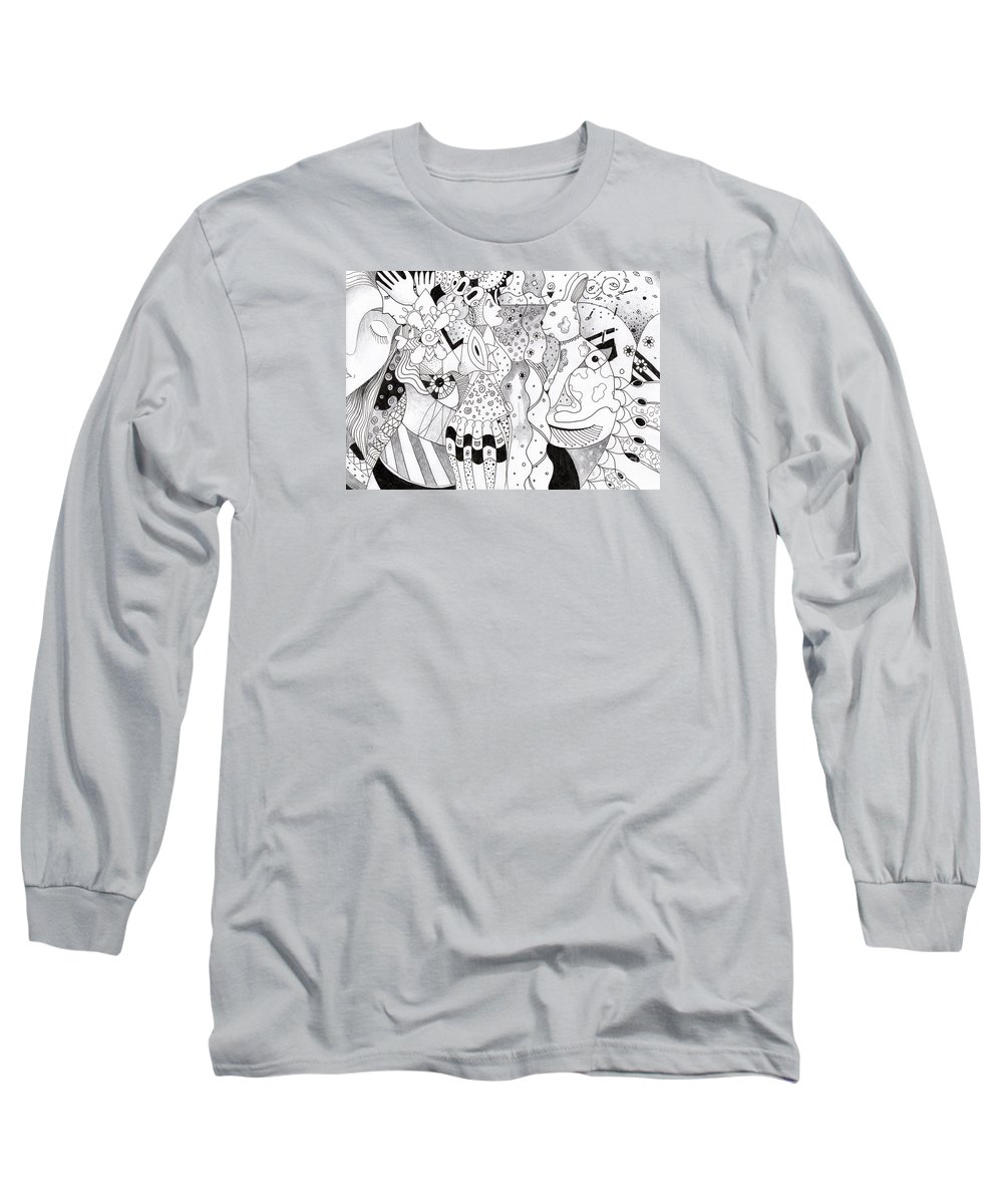 Organic Abstraction Long Sleeve T-Shirts