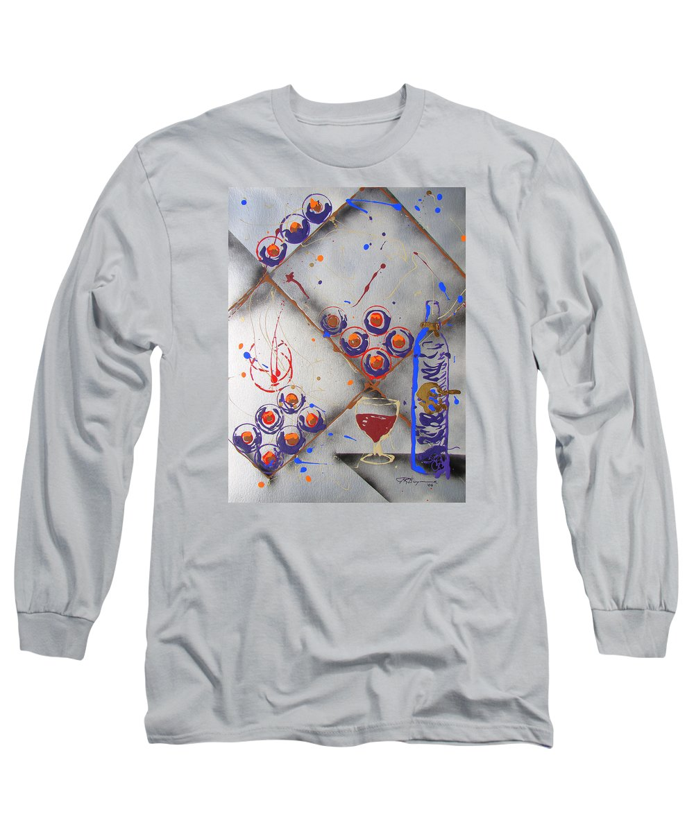 Wine Long Sleeve T-Shirt featuring the painting Wine Connoisseur by J R Seymour