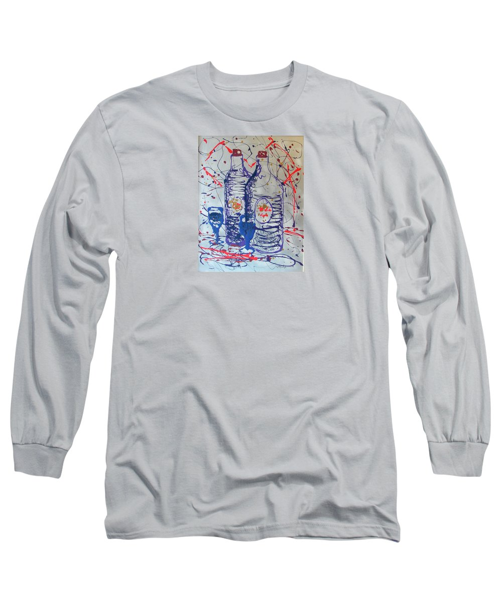 Impressionist Painting Long Sleeve T-Shirt featuring the painting Wine Jugs by J R Seymour