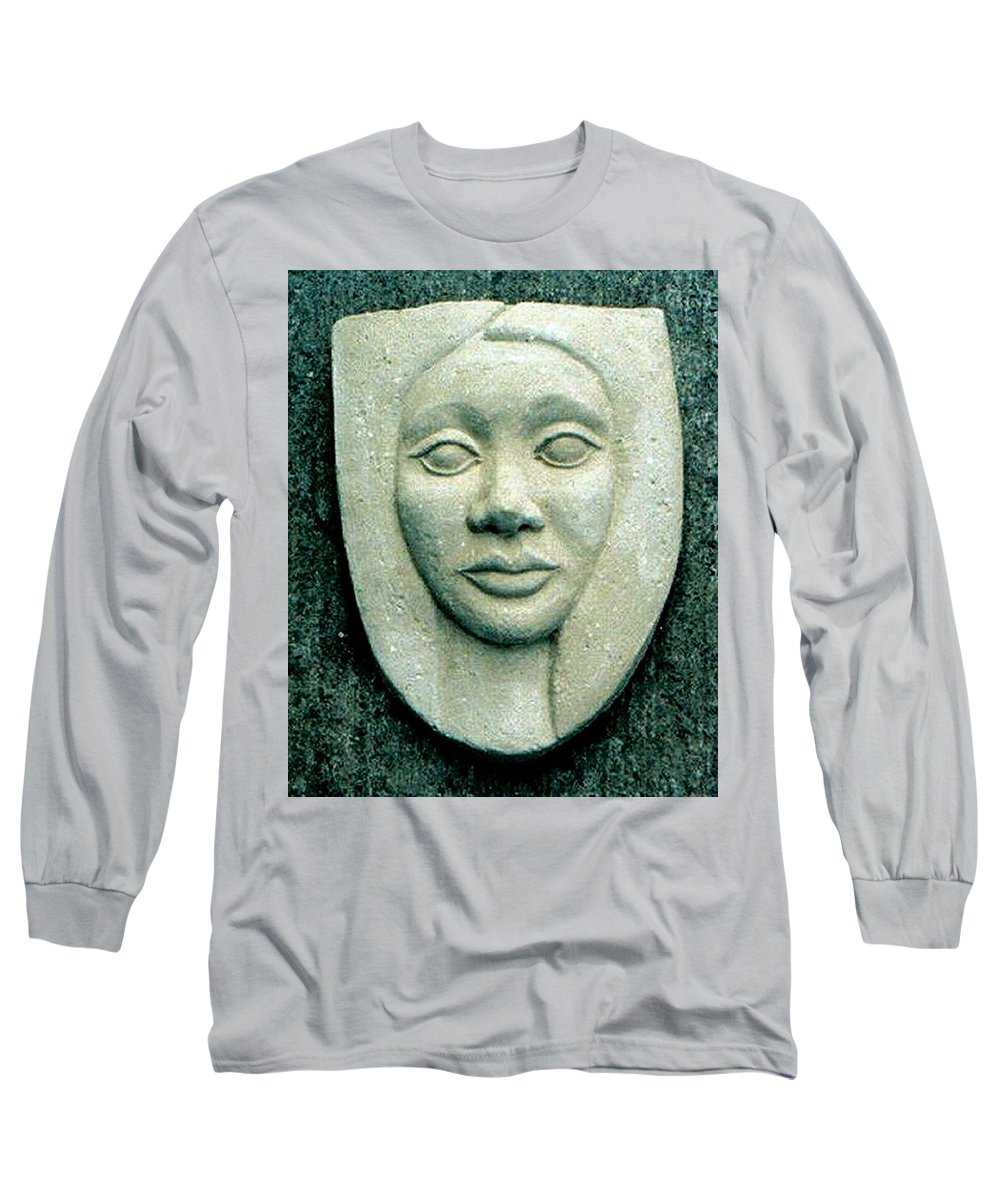 Relief Long Sleeve T-Shirt featuring the relief Without Veils by Madalena Lobao-Tello