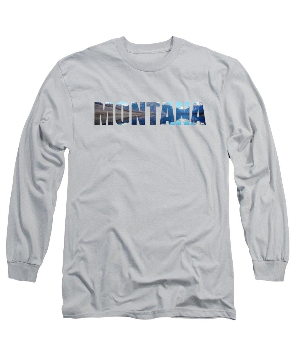 Montana Landscape Long Sleeve T-Shirts