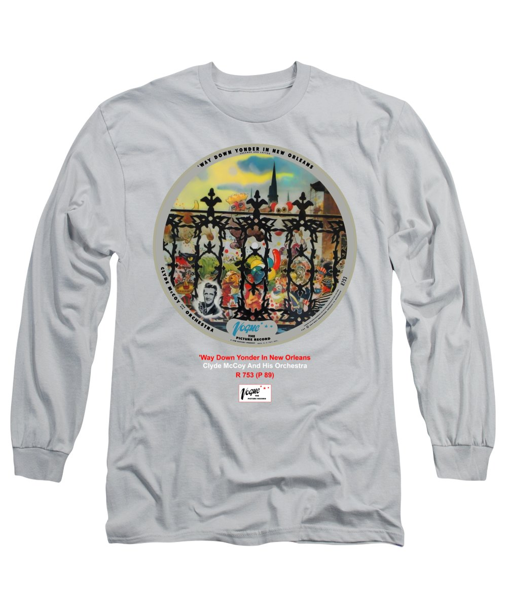 Vogue Picture Record Long Sleeve T-Shirt featuring the digital art Vogue Record Art - R 753 - P 89 by John Robert Beck