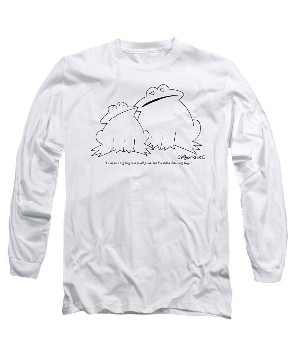 3879e4af A Big Frog Talks To A Smaller Frog Long Sleeve T-Shirt for Sale by Charles  Barsotti