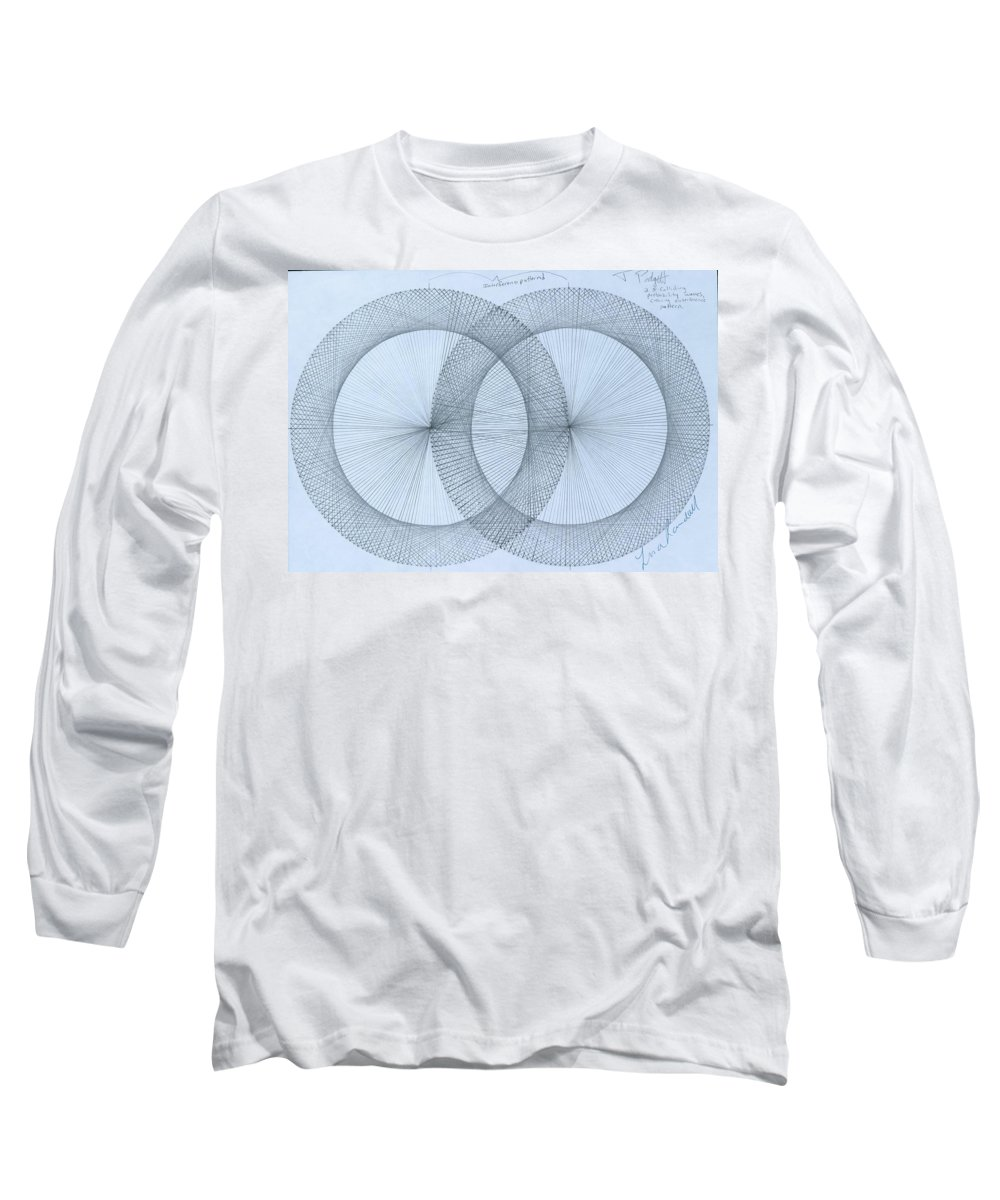 Fractal Long Sleeve T-Shirt featuring the drawing Magnetism by Jason Padgett