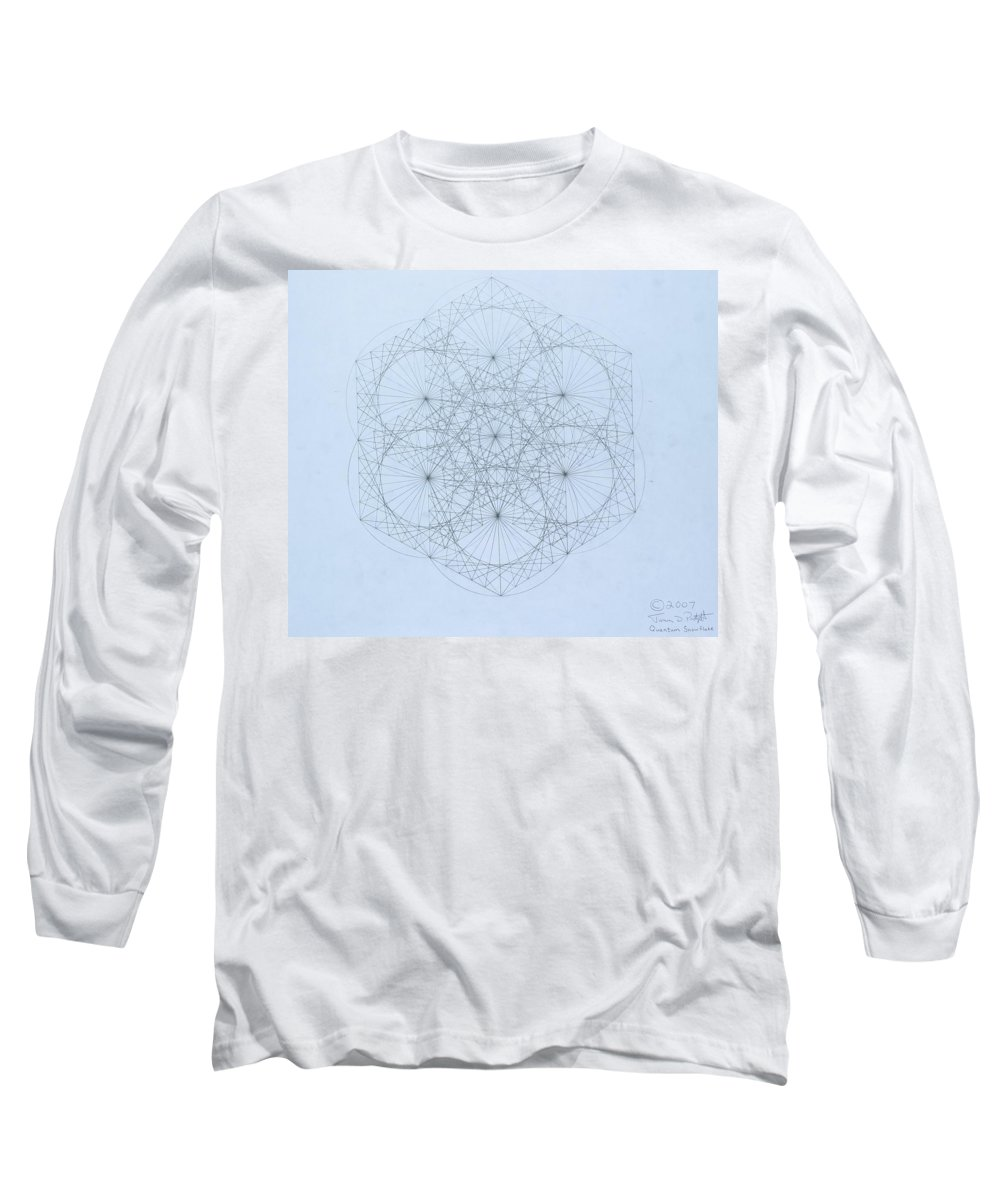 Jason Padgett Long Sleeve T-Shirt featuring the drawing Quantum Snowflake by Jason Padgett