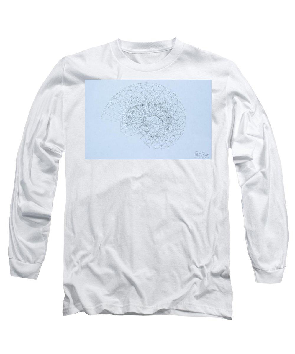 Jason Padgett Long Sleeve T-Shirt featuring the drawing Quantum Nautilus by Jason Padgett