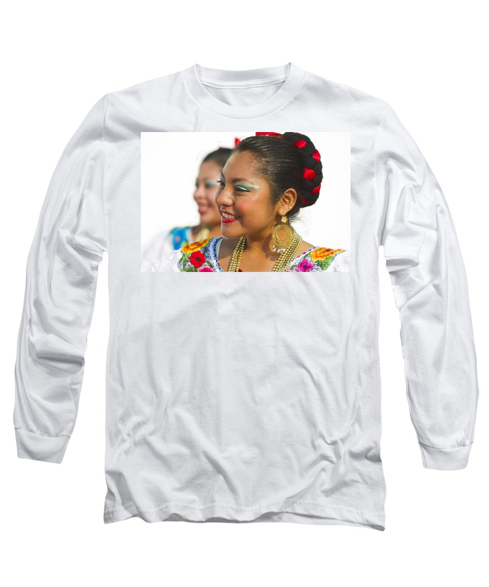Chiapas Long Sleeve T-Shirt featuring the photograph Traditional Ethnic Dancers In Chiapas Mexico by David Smith