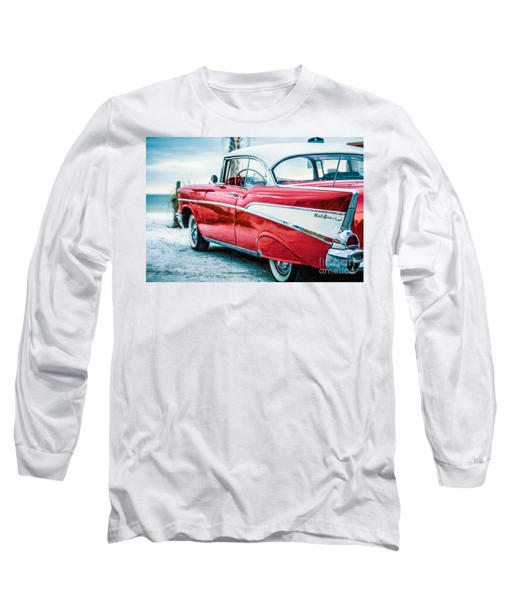 1957 Long Sleeve T-Shirt featuring the photograph 1957 Chevy Bel Air by Edward Fielding