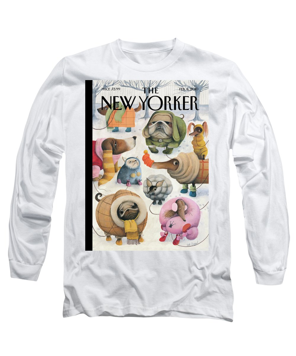 Baby It's Cold Outside Long Sleeve T-Shirt featuring the painting Baby, Its Cold Outside by Ana Juan