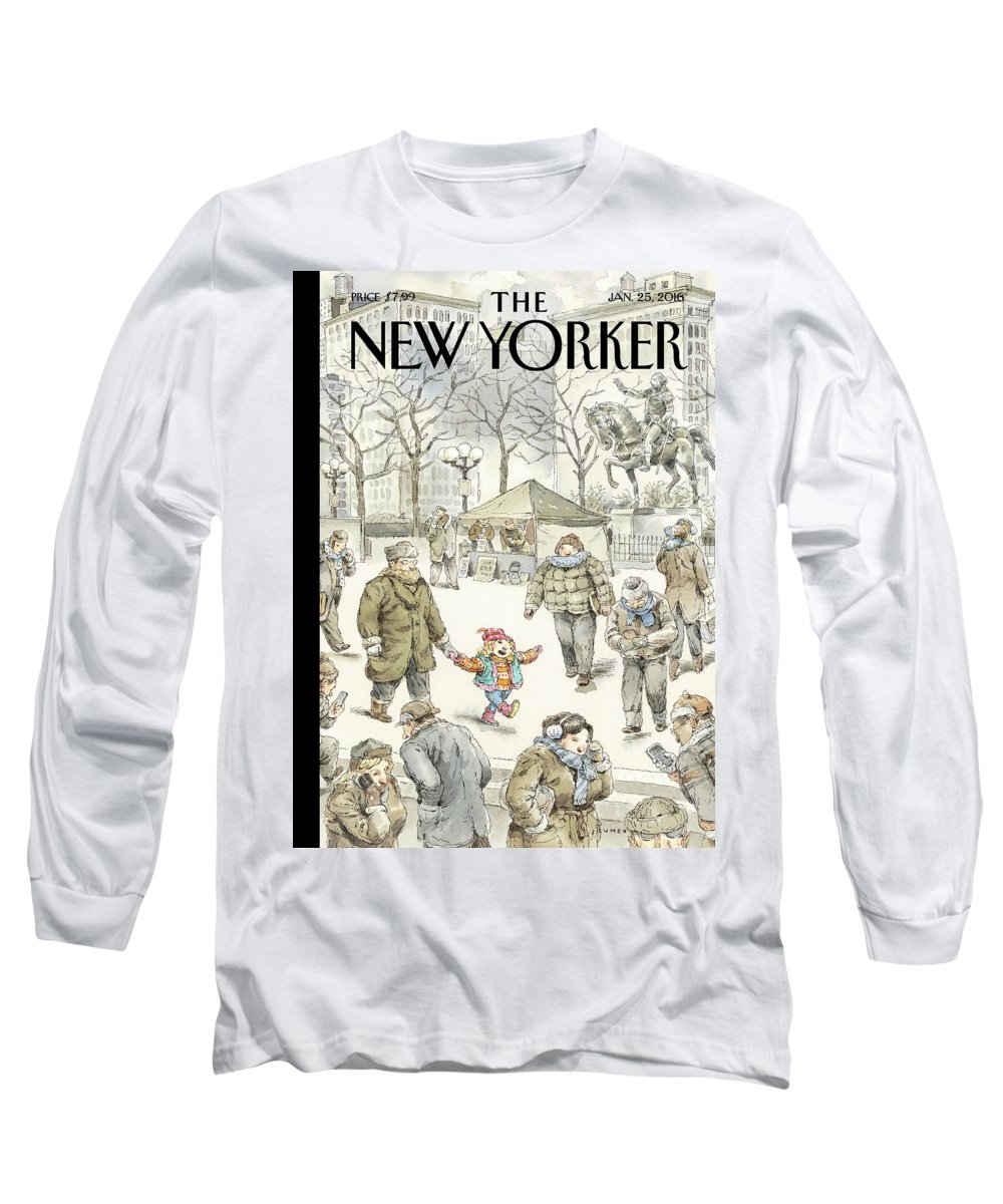 Child Long Sleeve T-Shirt featuring the painting Winter Delight by John Cuneo