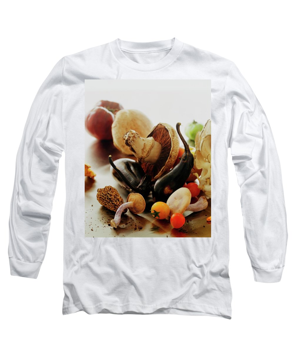 Vegetables Long Sleeve T-Shirt featuring the photograph A Pile Of Vegetables by Romulo Yanes