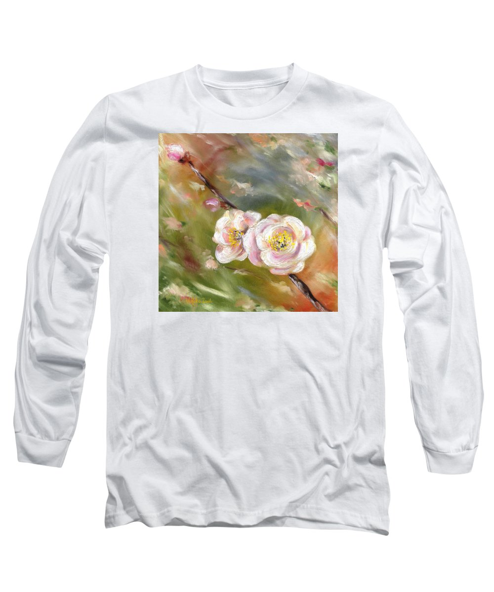 Flower Long Sleeve T-Shirt featuring the painting Anniversary by Hiroko Sakai
