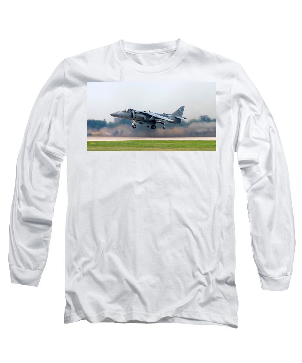 3scape Photos Long Sleeve T-Shirt featuring the photograph Av-8b Harrier by Adam Romanowicz