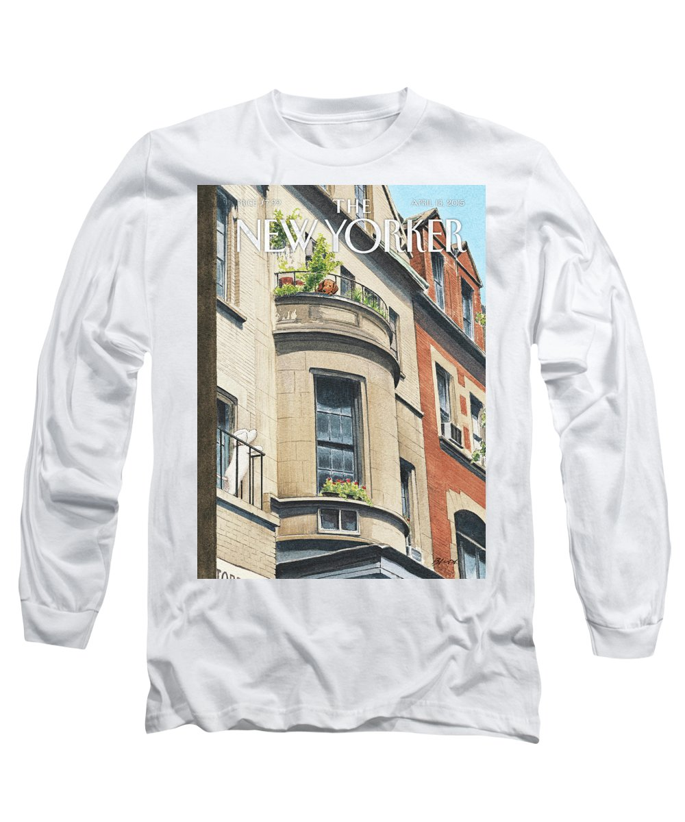 Dog Long Sleeve T-Shirt featuring the painting Balcony Scene by Harry Bliss