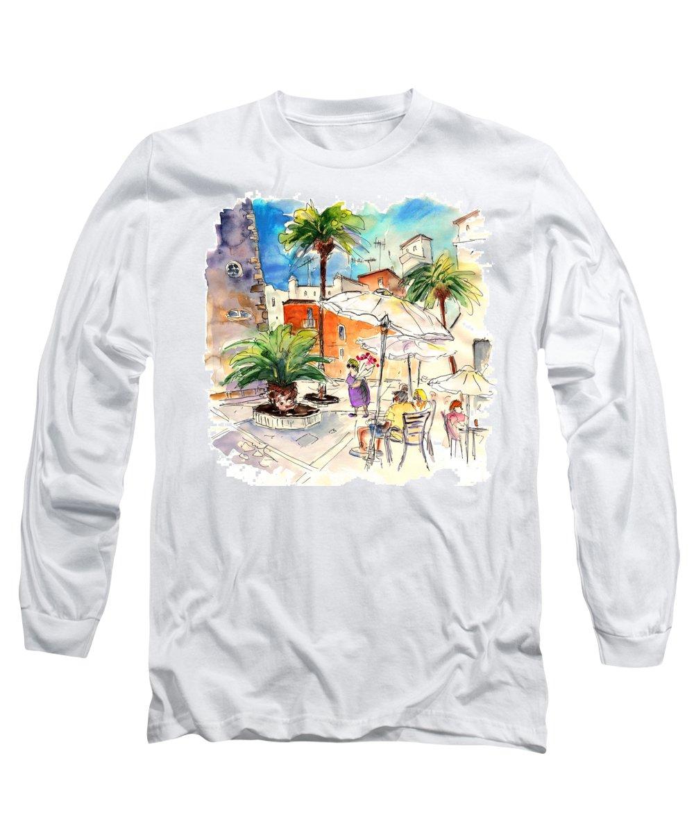 Travel Long Sleeve T-Shirt featuring the painting Cadiz Spain 13 by Miki De Goodaboom