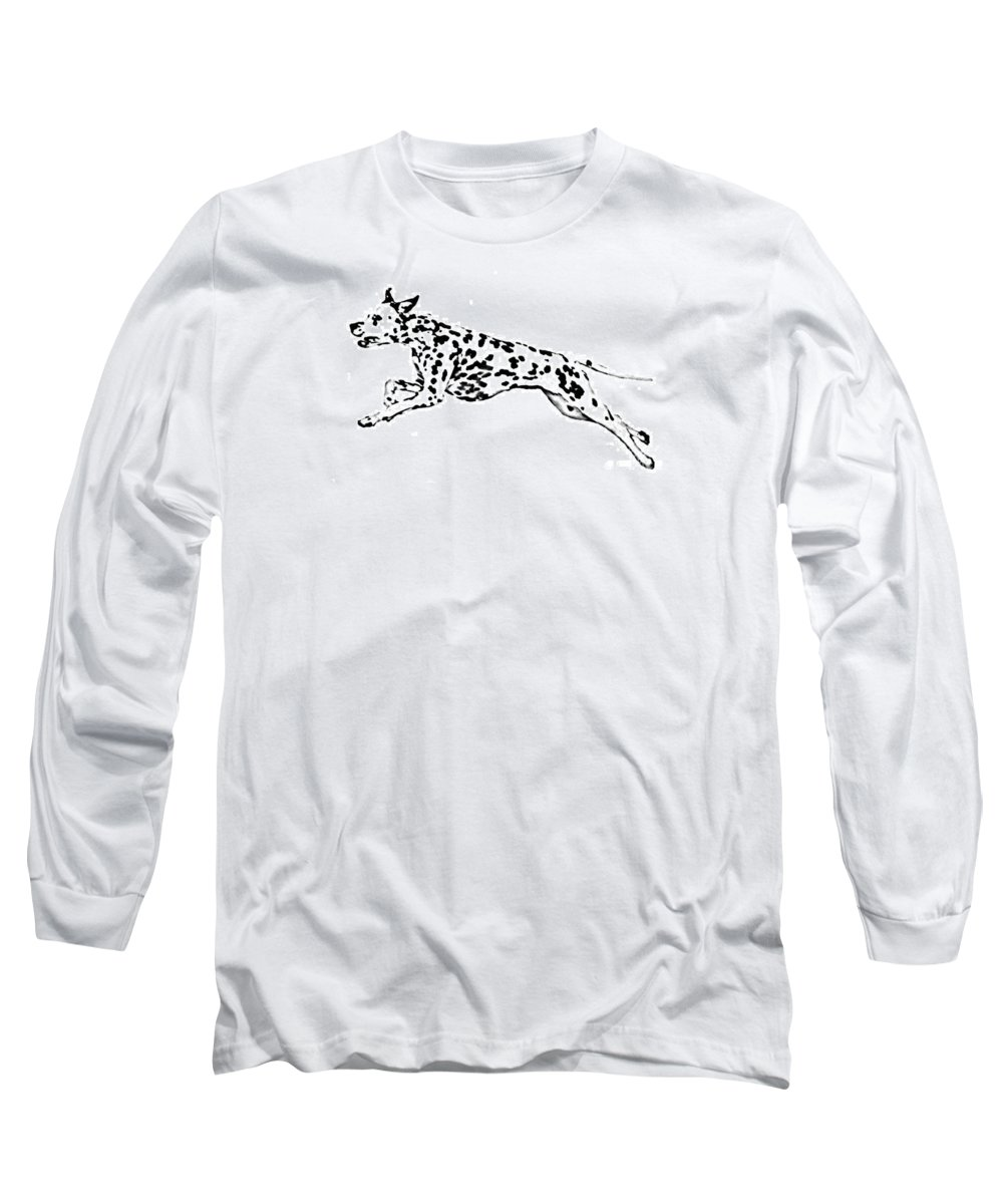 Dogs Long Sleeve T-Shirt featuring the drawing Celebrate by Jacki McGovern