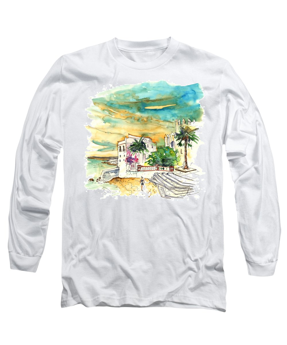 Travel Long Sleeve T-Shirt featuring the painting Chipiona Spain 04 by Miki De Goodaboom
