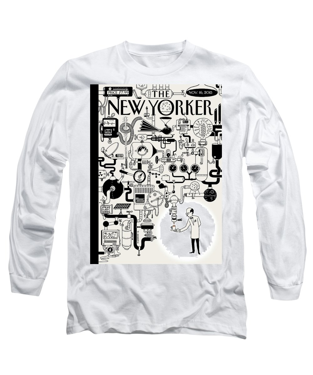 142340 Long Sleeve T-Shirt featuring the painting Coffee Break by Christoph Niemann