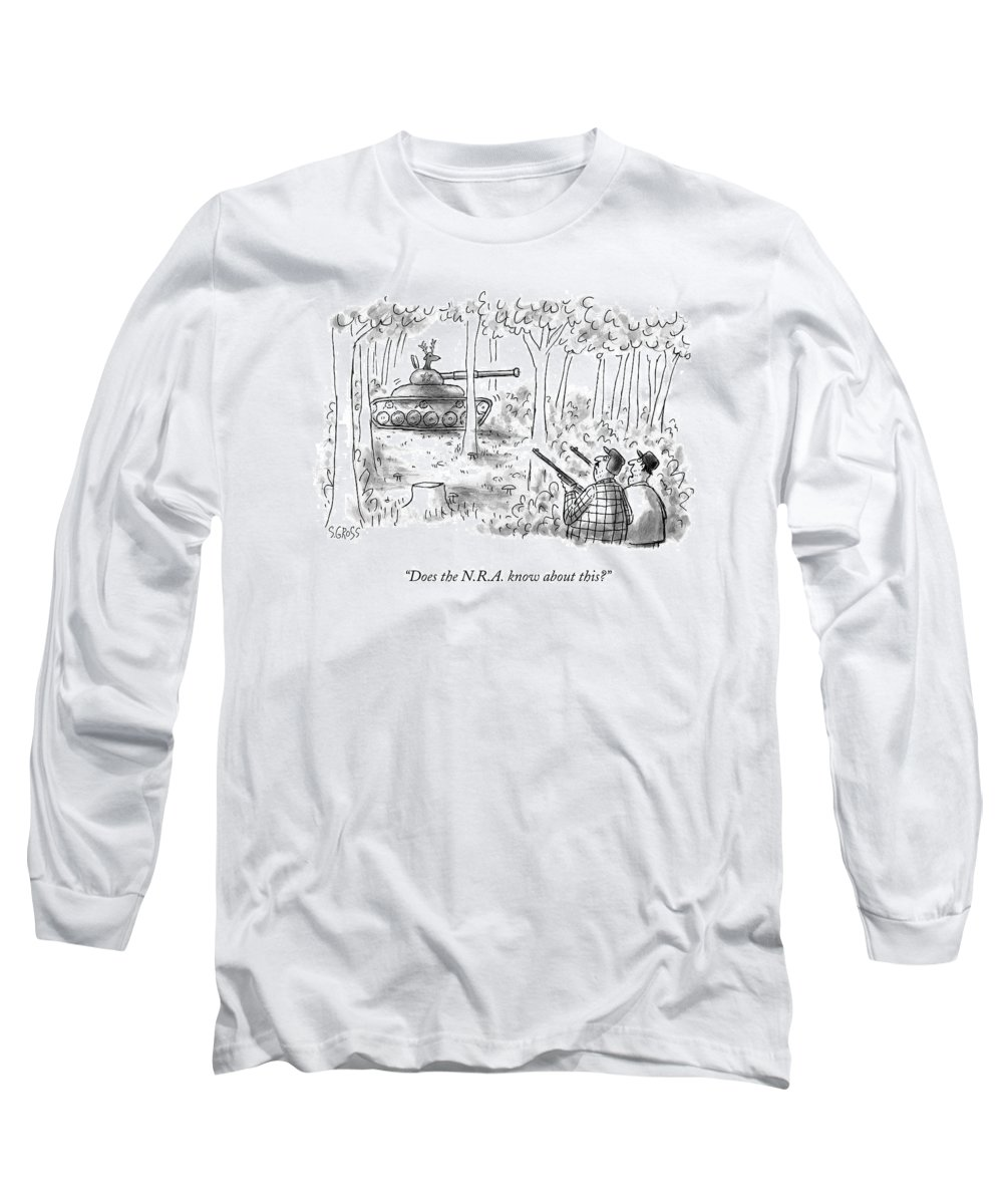 4eecdc84 Does The N.r.a. Know About This? Long Sleeve T-Shirt for Sale by Sam Gross