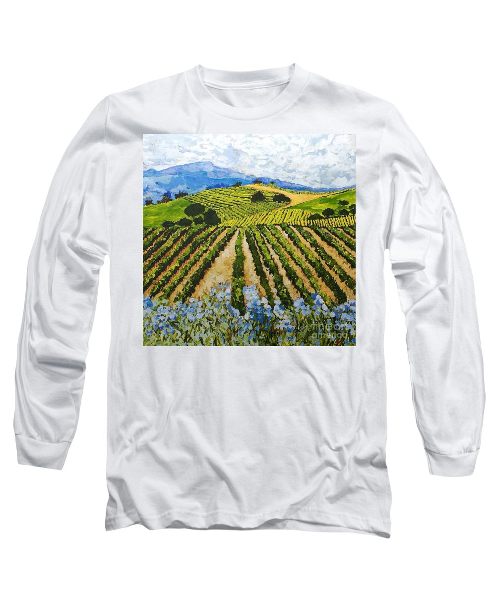 Landscape Long Sleeve T-Shirt featuring the painting Early Crop by Allan P Friedlander