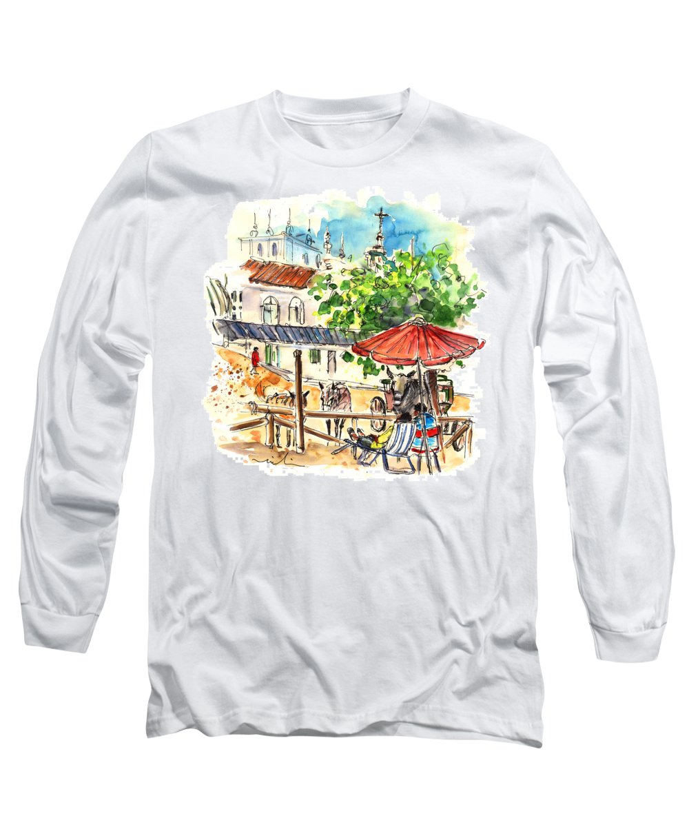 Travel Long Sleeve T-Shirt featuring the painting El Rocio 01 by Miki De Goodaboom