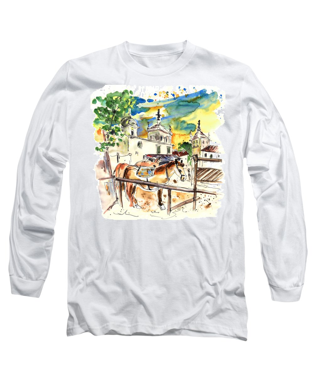 Travel Long Sleeve T-Shirt featuring the painting El Rocio 02 by Miki De Goodaboom