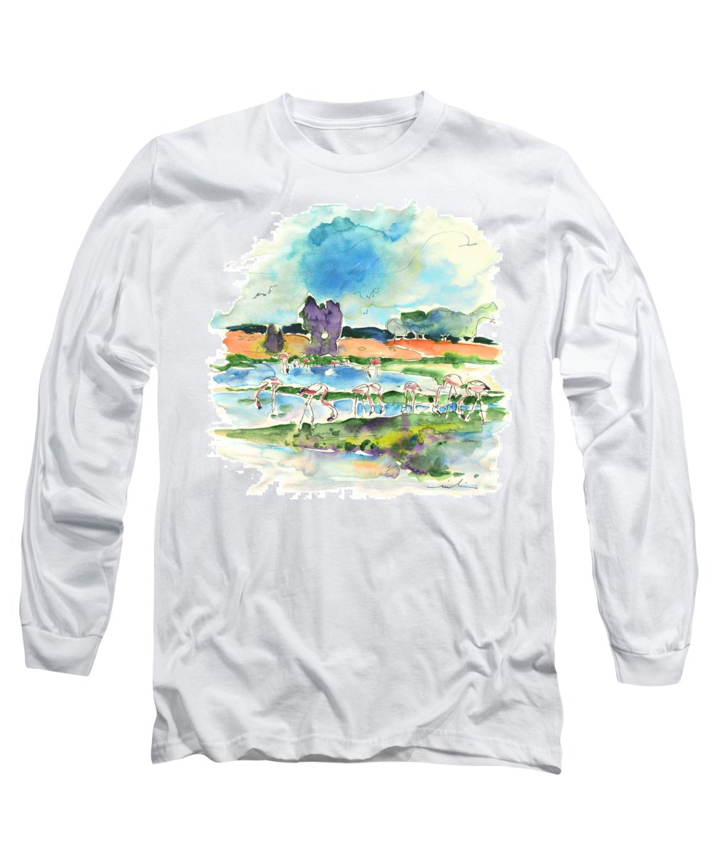 Travel Long Sleeve T-Shirt featuring the painting El Rocio 08 by Miki De Goodaboom