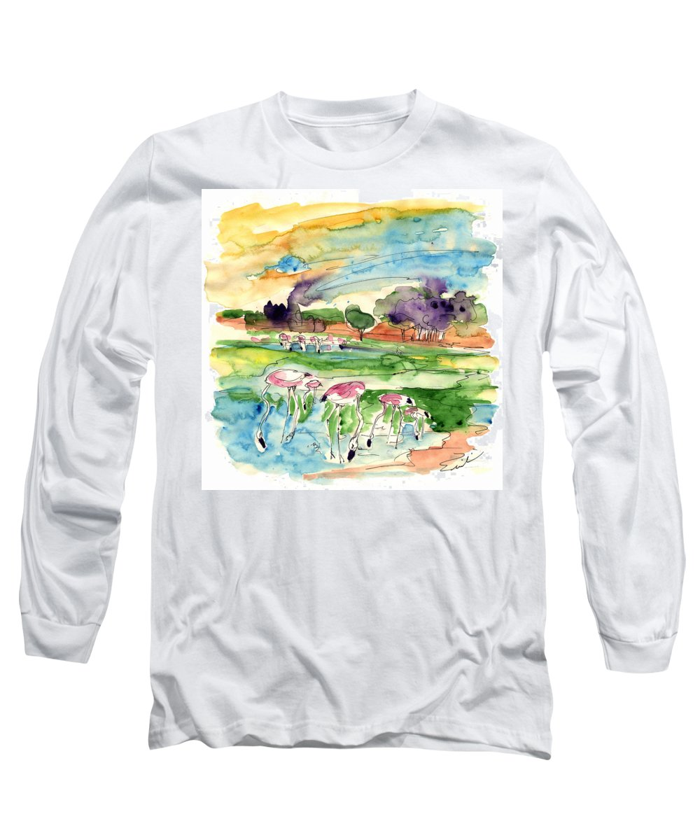 Travel Long Sleeve T-Shirt featuring the painting El Rocio 09 by Miki De Goodaboom