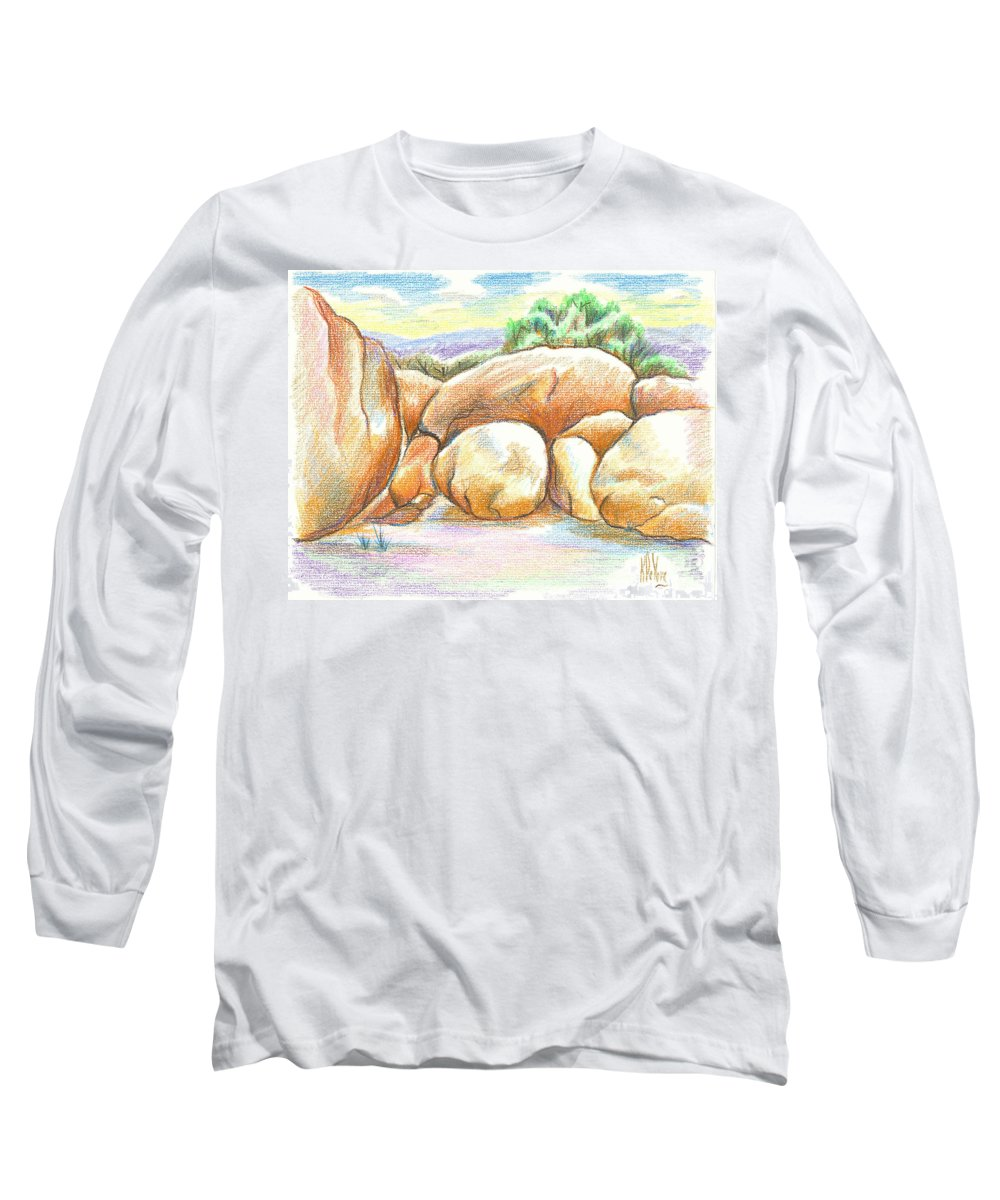 Elephant Rocks State Park Ii No C103 Long Sleeve T-Shirt featuring the painting Elephant Rocks State Park II No C103 by Kip DeVore