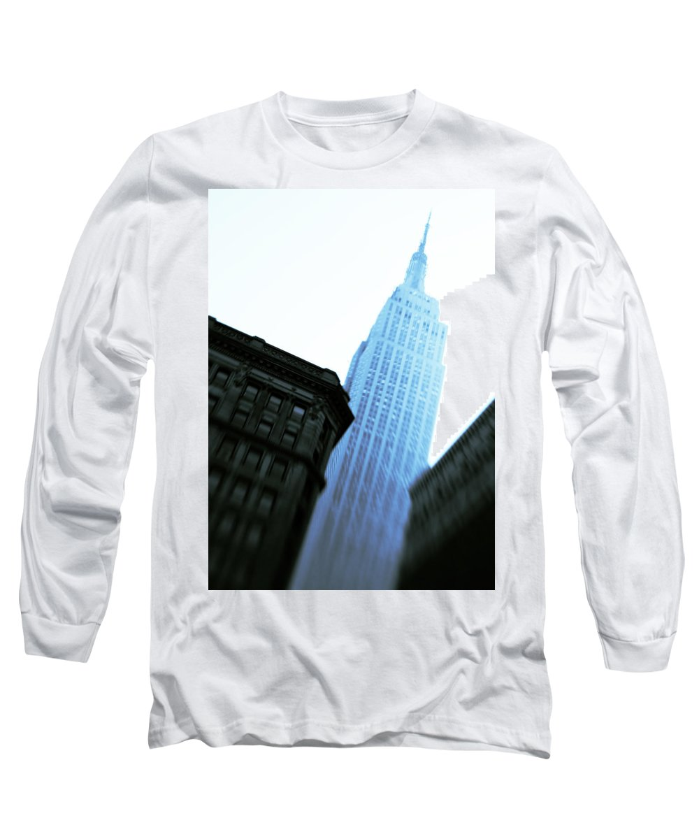 Empire State Building Long Sleeve T-Shirt featuring the photograph Empire State Building by Dave Bowman