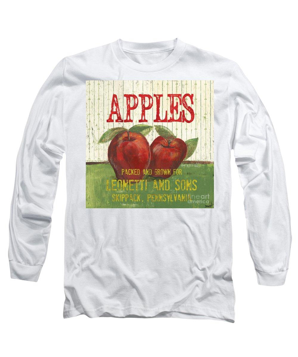 Food Long Sleeve T-Shirt featuring the painting Farm Fresh Fruit 3 by Debbie DeWitt