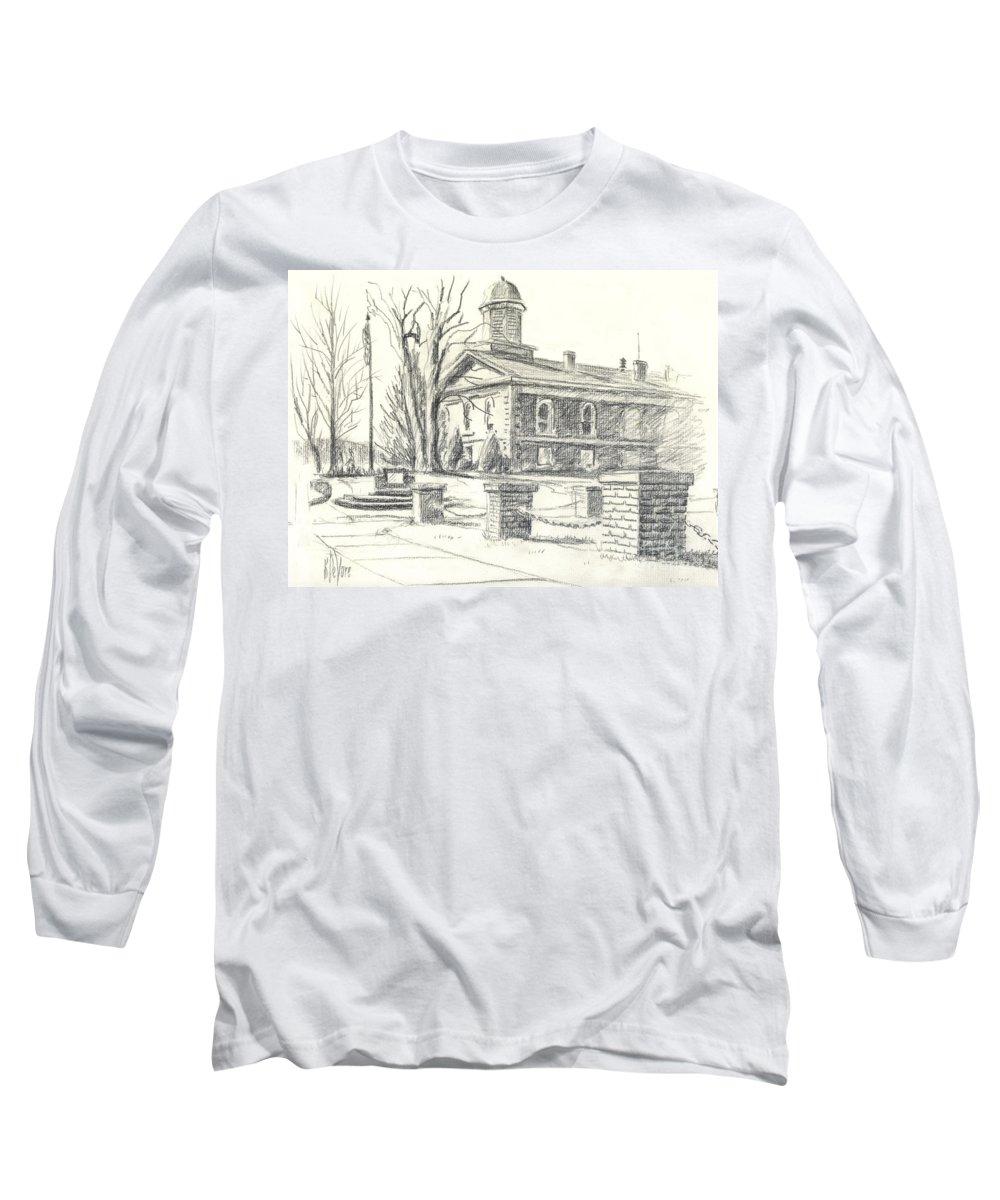 February Morning No Ctc102 Long Sleeve T-Shirt featuring the drawing February Morning No Ctc102 by Kip DeVore