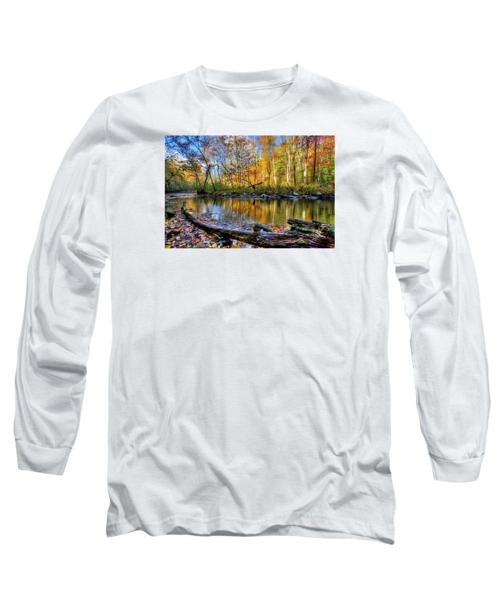 Appalachia Long Sleeve T-Shirt featuring the photograph Full Box Of Crayons by Debra and Dave Vanderlaan