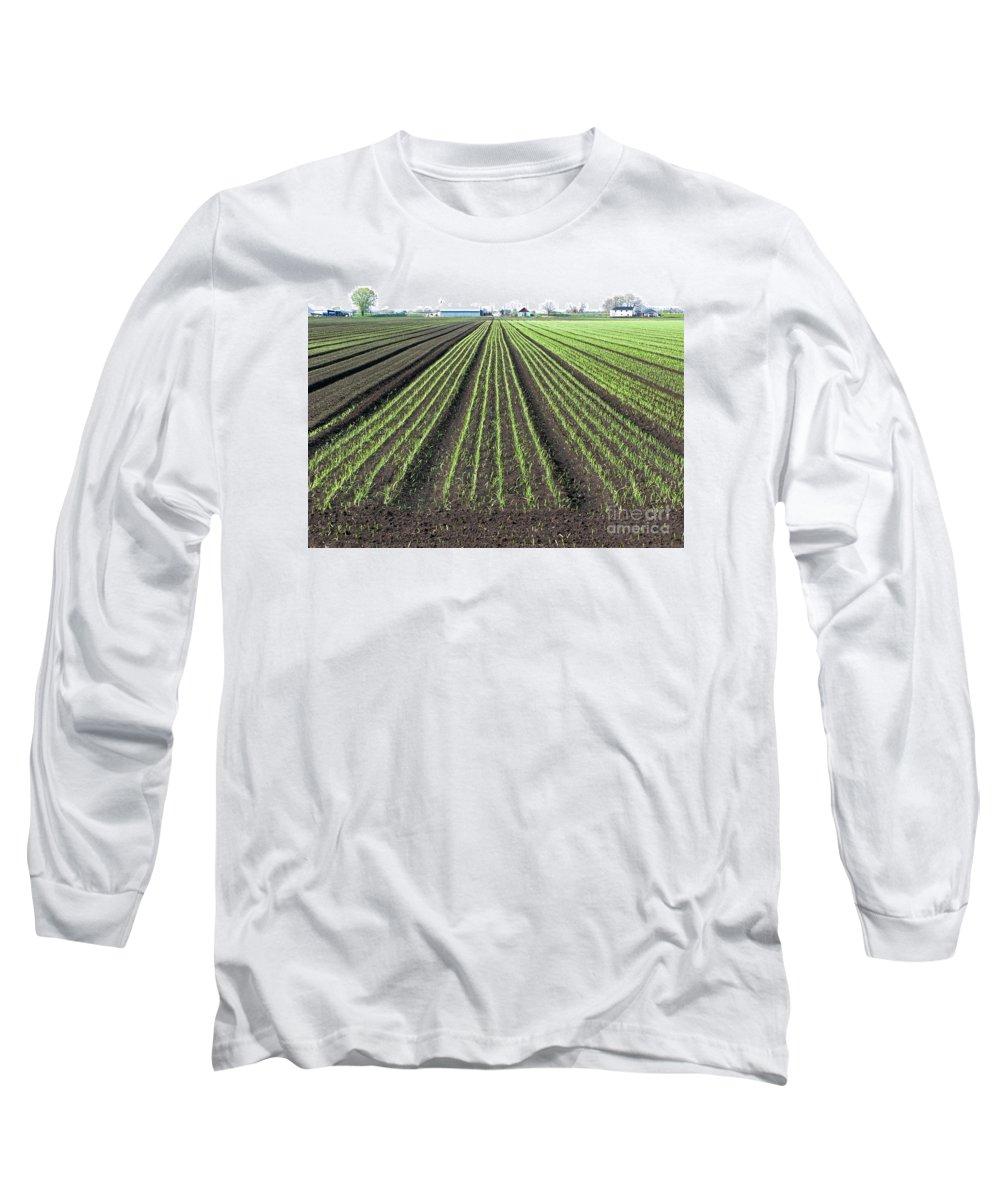 Farm Long Sleeve T-Shirt featuring the photograph Good Earth by Ann Horn