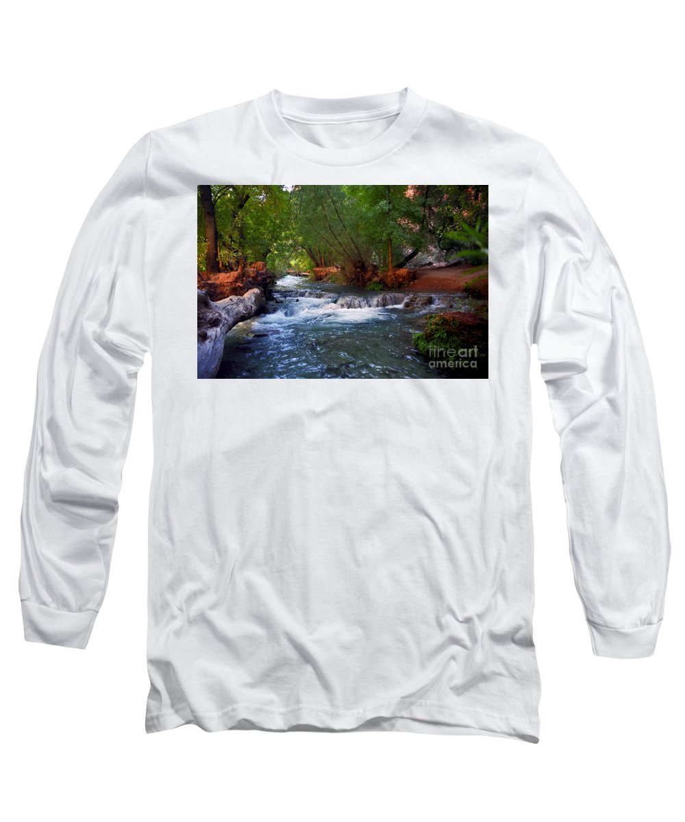 Arizona Long Sleeve T-Shirt featuring the photograph Havasu Creek by Kathy McClure