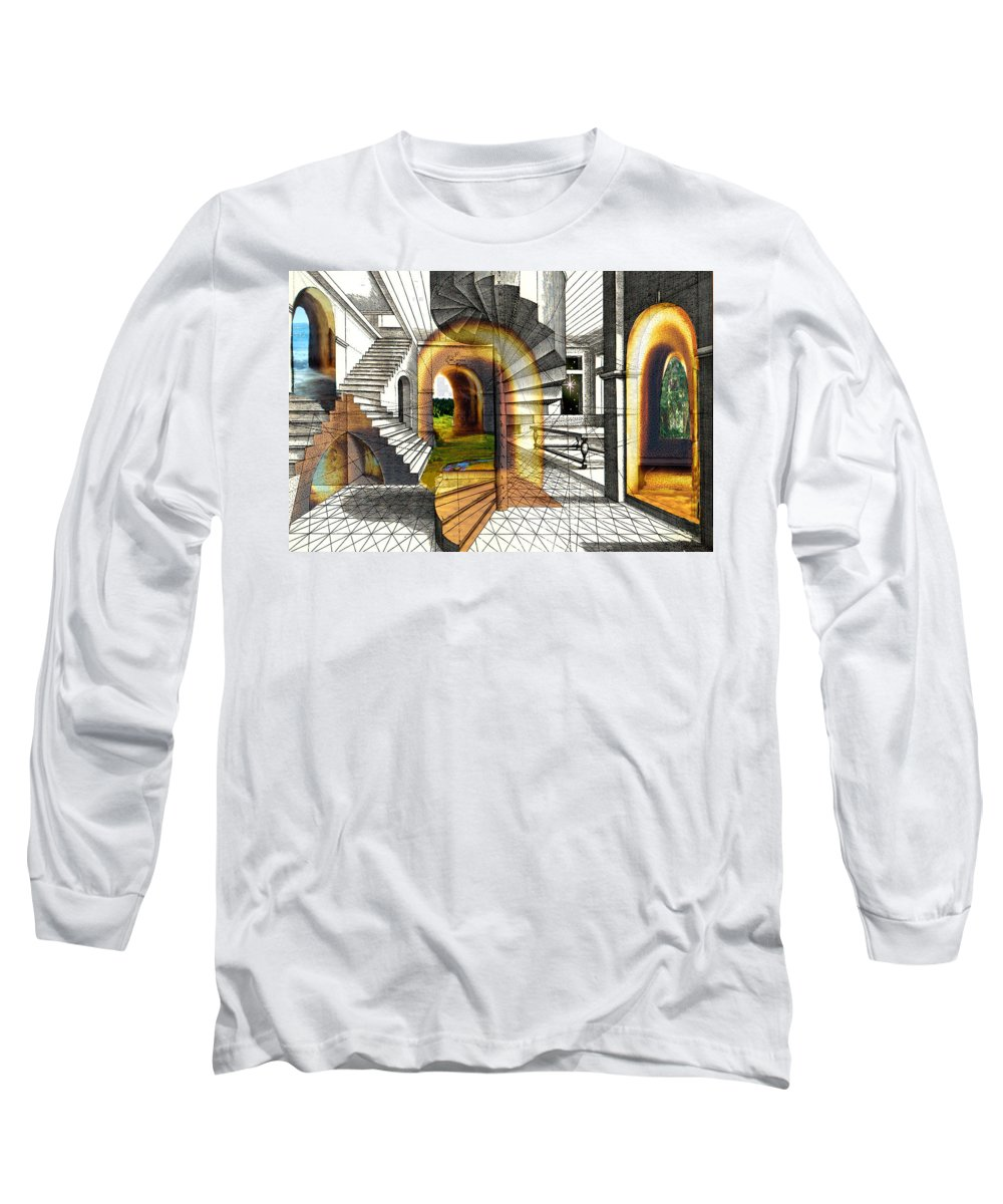 House Long Sleeve T-Shirt featuring the digital art House Of Dreams by Lisa Yount