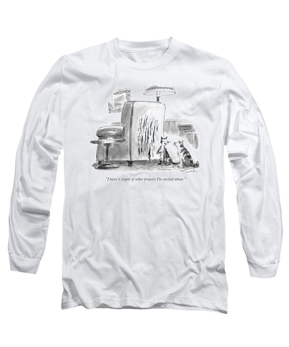 Artists Long Sleeve T-Shirt featuring the drawing I Have A Couple Of Other Projects I'm Excited by Mike Twohy
