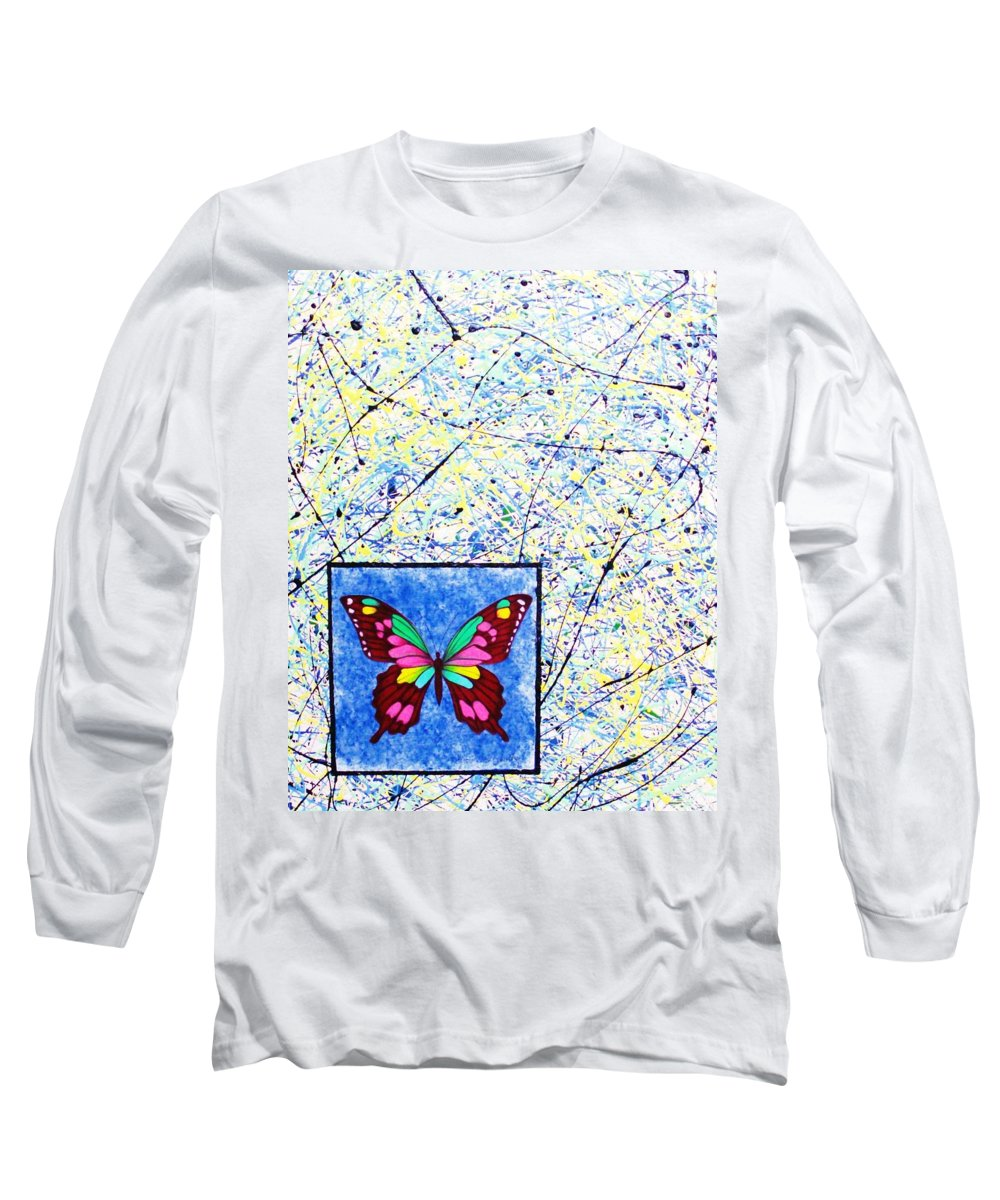 Abstract Long Sleeve T-Shirt featuring the painting Imperfect I by Micah Guenther
