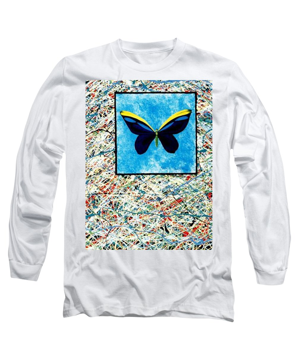Abstract Long Sleeve T-Shirt featuring the painting Imperfect II by Micah Guenther