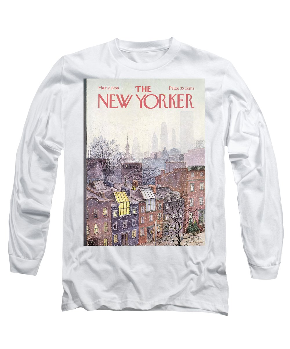 Albert Hubbell Ahu Long Sleeve T-Shirt featuring the painting In The Borough by Albert Hubbell