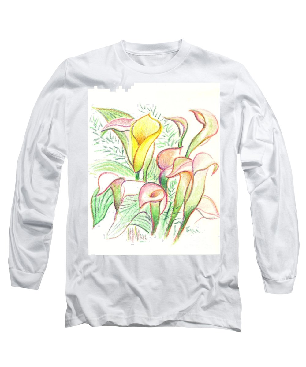 In The Golden Afternoon Long Sleeve T-Shirt featuring the painting In The Golden Afternoon by Kip DeVore