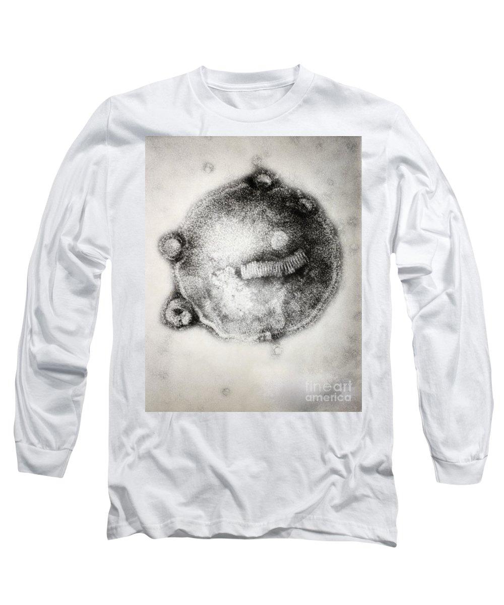 Influenza Long Sleeve T-Shirt featuring the photograph Influenza Ahong Kong by Joseph F. Gennaro Jr.