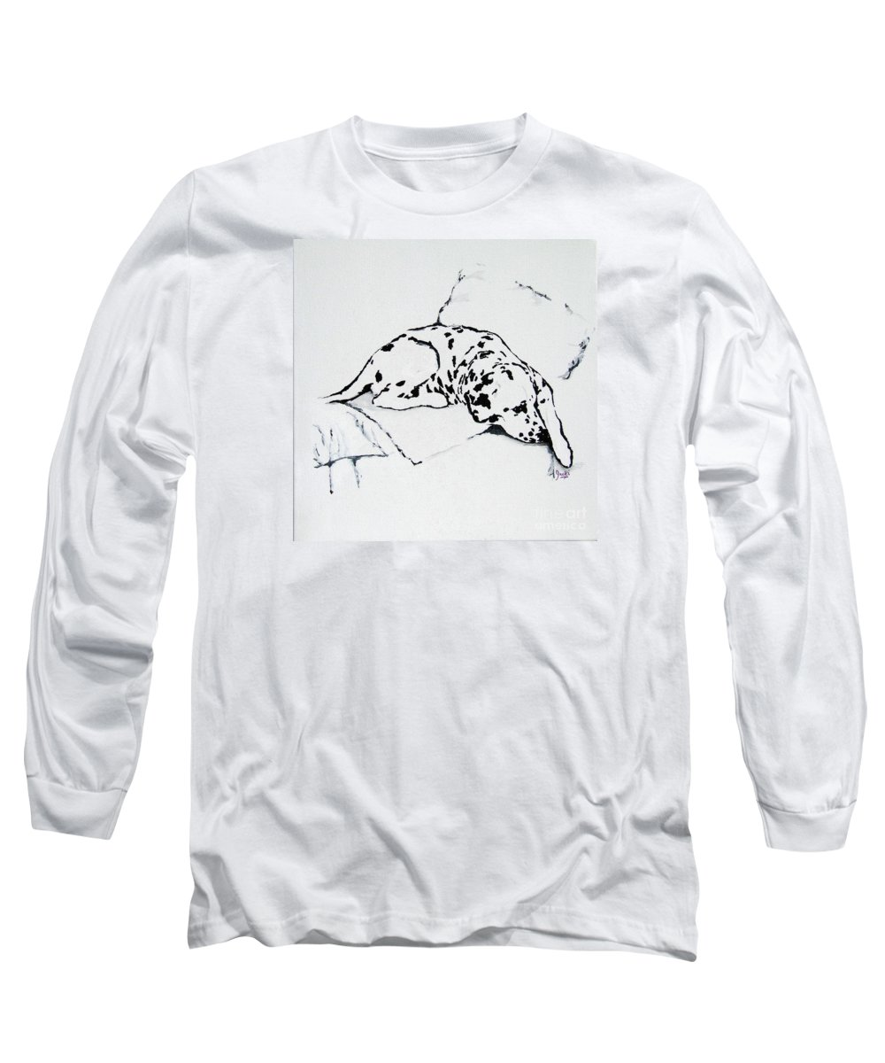 Dogs Long Sleeve T-Shirt featuring the painting Lazy Day by Jacki McGovern