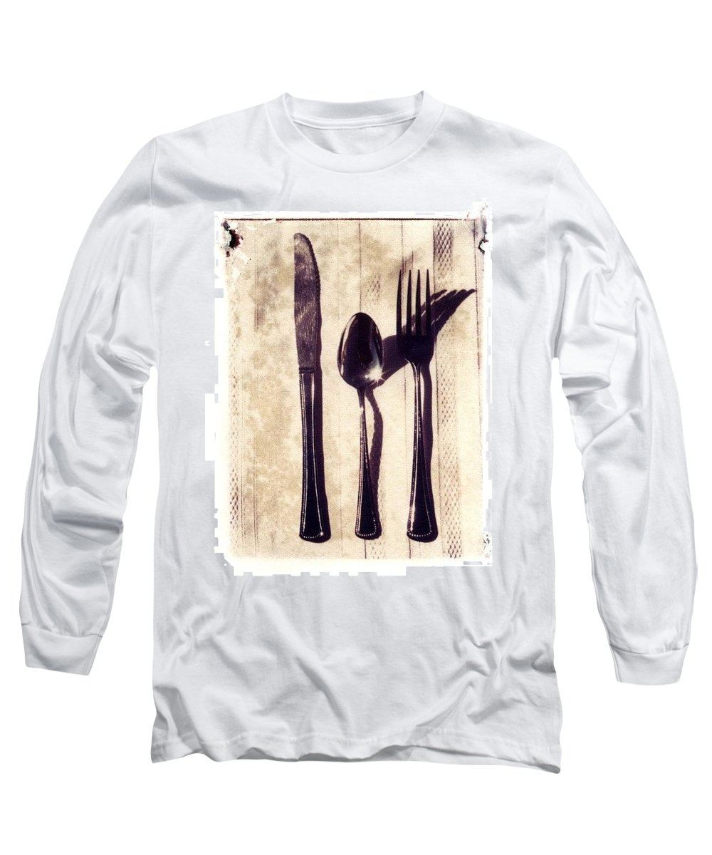 Forks Long Sleeve T-Shirt featuring the photograph Lets Eat by Jane Linders