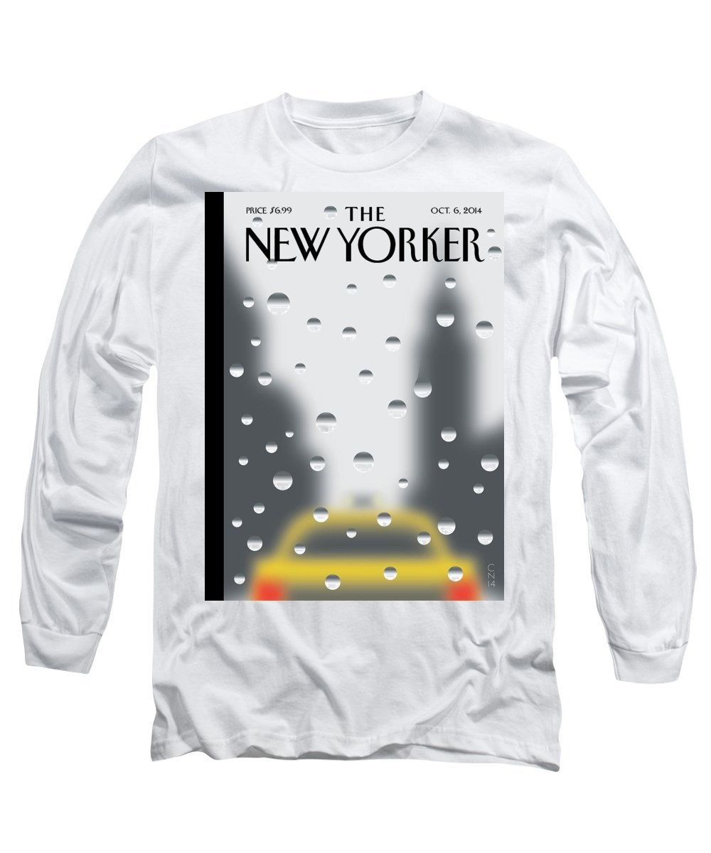 141060 Long Sleeve T-Shirt featuring the painting Rainy Day by Christoph Niemann