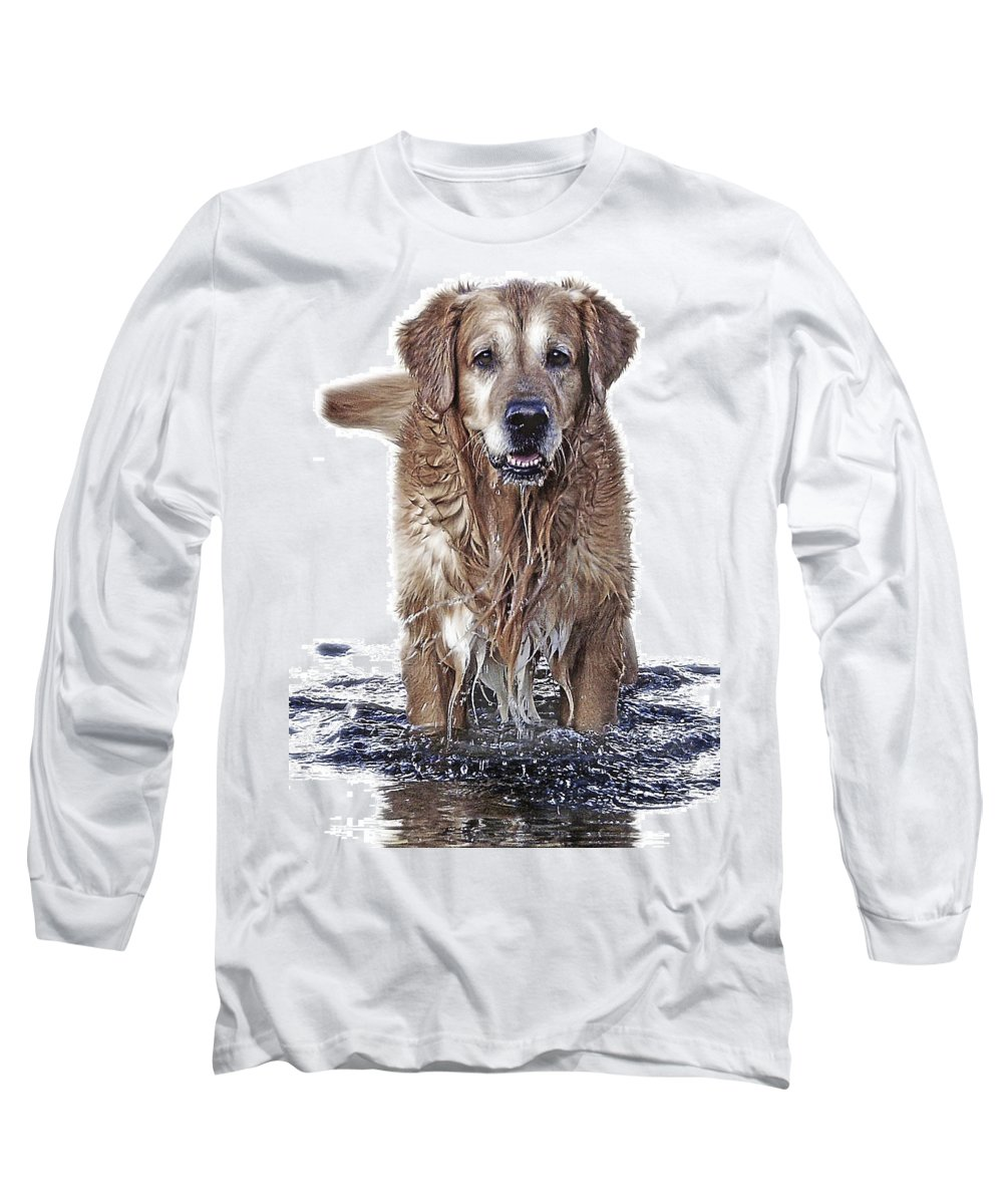 Dog Long Sleeve T-Shirt featuring the photograph Master Of Wet Elements by Joachim G Pinkawa
